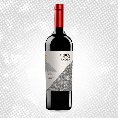 Piedra de los Andres - Malbe - Wine Label