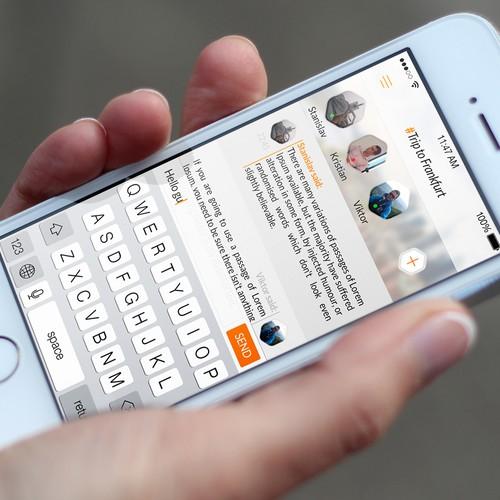 GossApp UI design