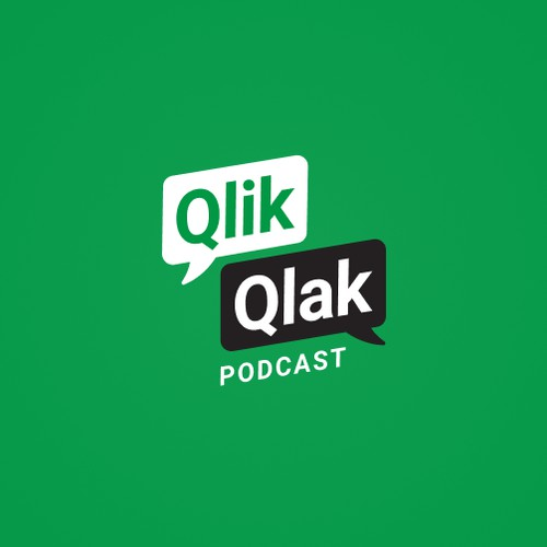 Logo Concept for a podcast about data visualization on Qlik Sense