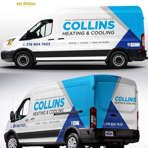 HVAC van wrap for colliins