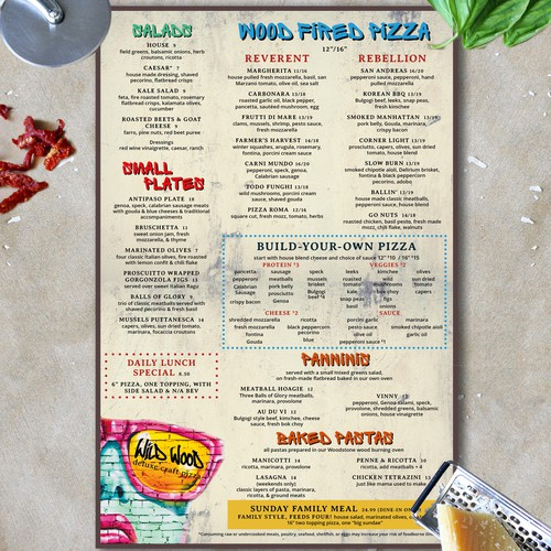 Graffiti Themed Menu