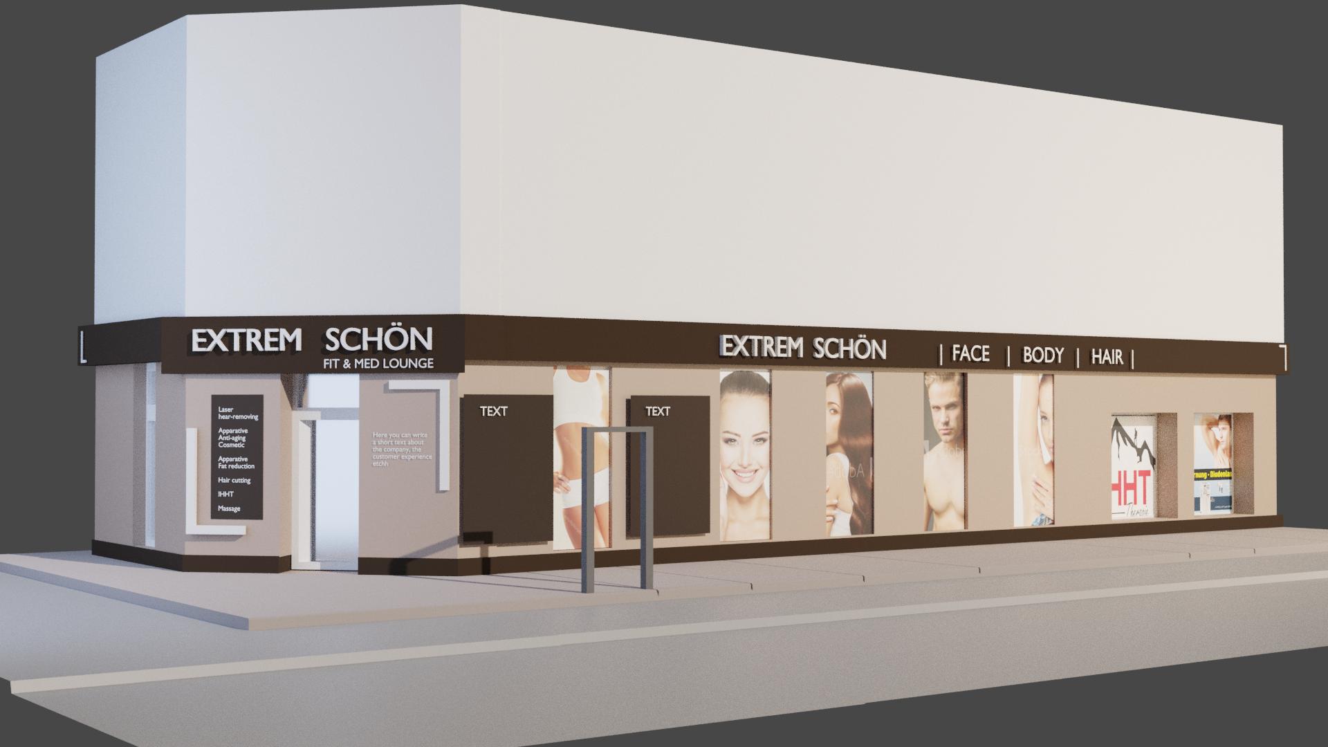 Store window cosmetic studio