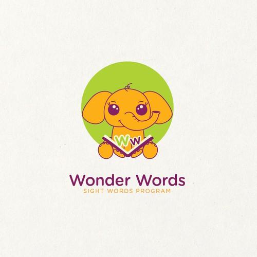 Playful logo for sight words program