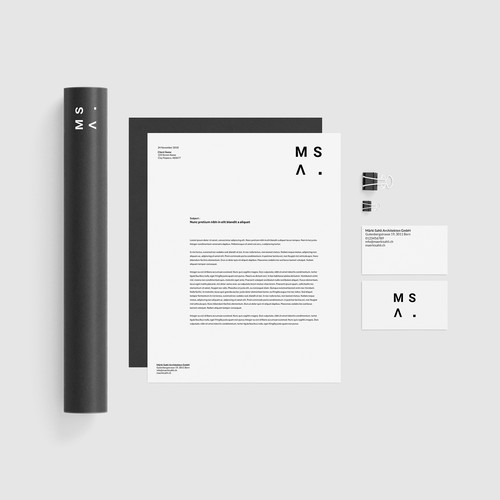 Minimalistic branding for a Swiss Architecture Office