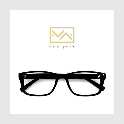 An elegant and upscale logo for eyewear boutique.