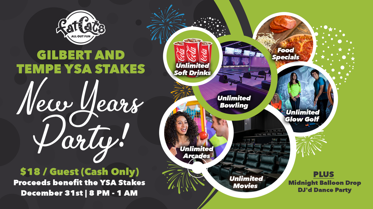 New Years Party Flyer and Digital Signage