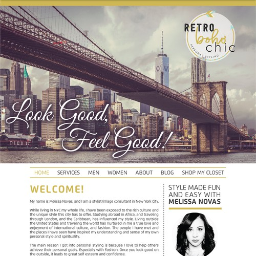 Website design for Retro Boho Chic