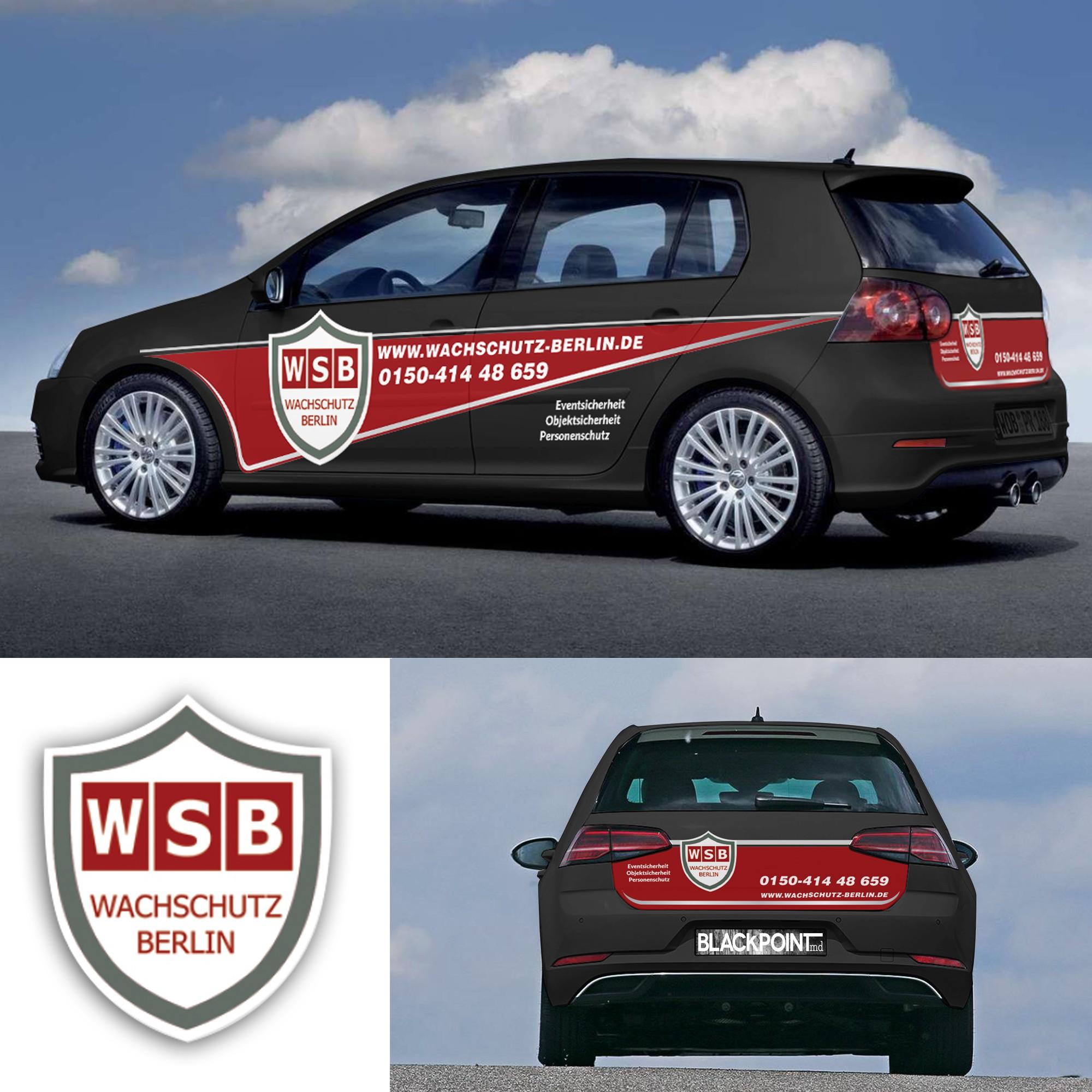 Wachschutz Berlin Werbung für GOLF V (Golf 5)