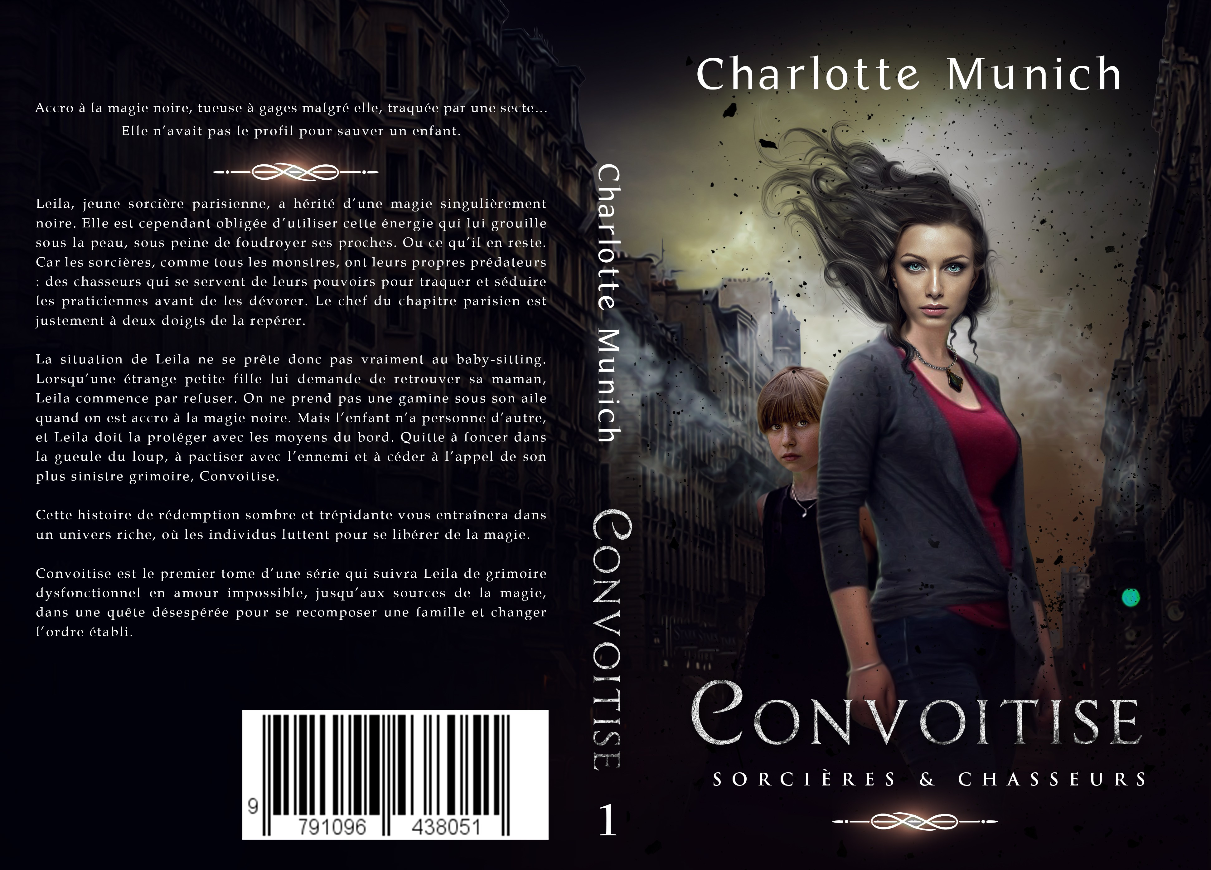 Intense cover for a new urban fantasy series