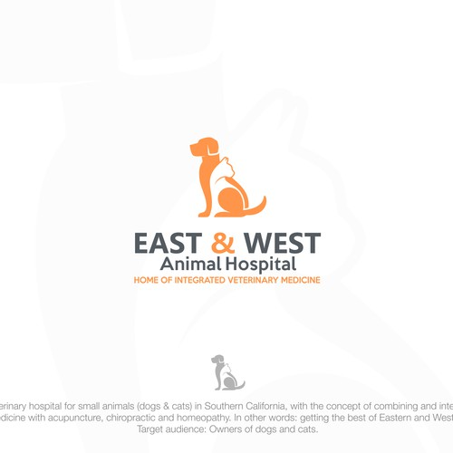 Simple and Bold Design concept for east and west animal hospital