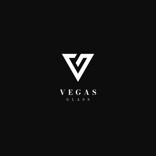 Vegas Glass Logo Design