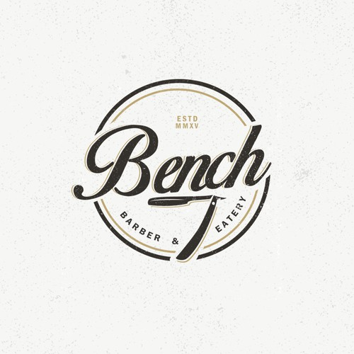 logo design concept for a barber & eatery