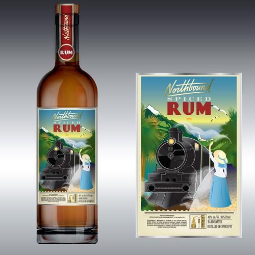 Northbound Spirits Label Design