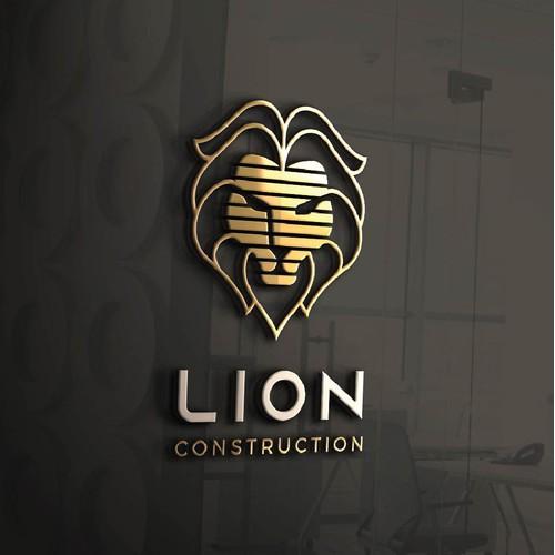 Lion Construction Logo.
