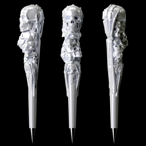 3D Ceramic Pen Shaft design