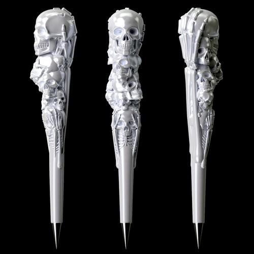 3D Ceramic Pen Shaft design