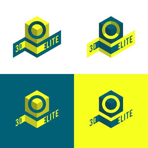 Logo concept for 3D Elite