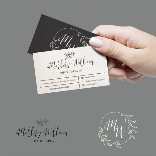 Floral logo and business card design
