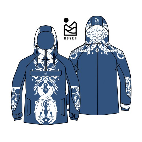 Snowboarding jacket design