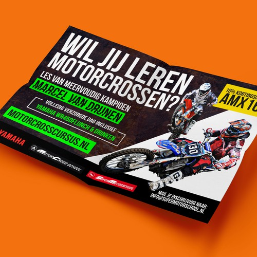 Design a flyer/advertisement for the visitors of the Grand Prix Motorcross 2016!