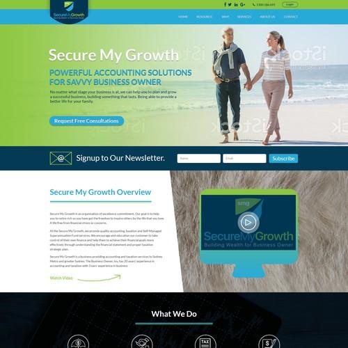 Secure My Growth needs a wordpress website design