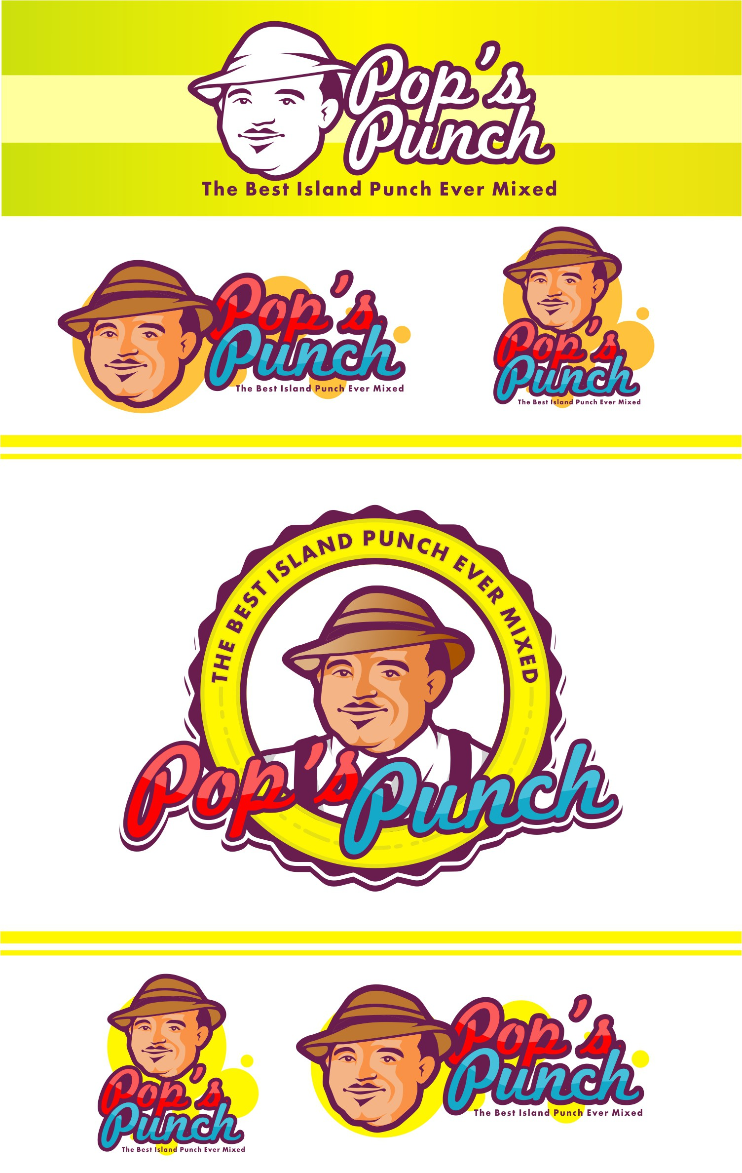 Existing Beverage Business Logo Needing Facelift for Pop's Punch