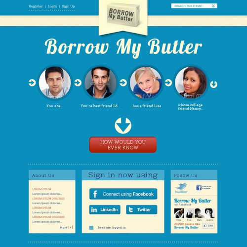 Help Borrow My Butter with a new website design