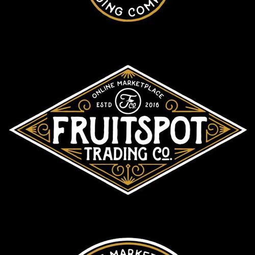 "Logo: Vintage Concept for ""Fruitspot Trading Co."""