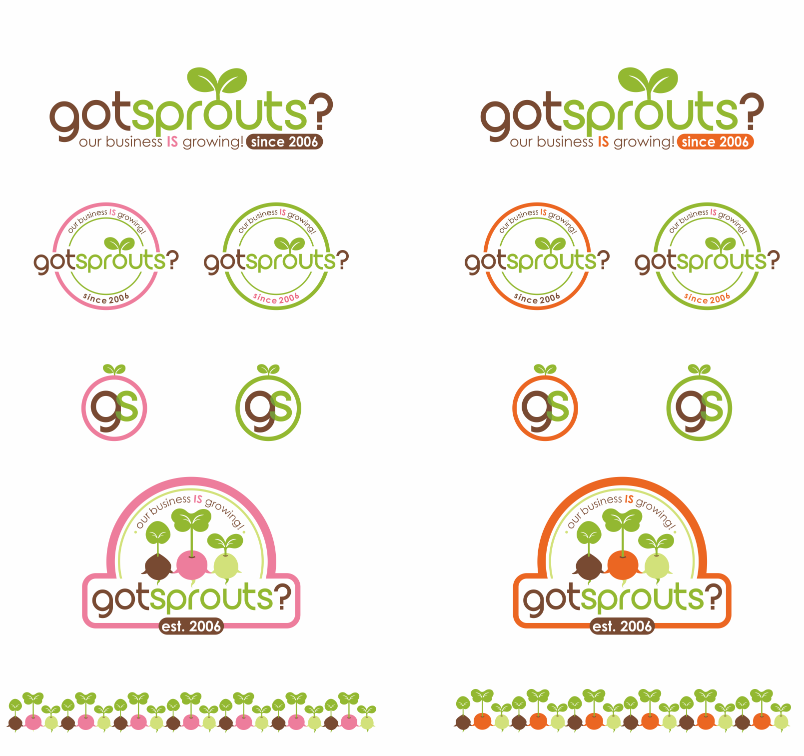 Got Sprouts? - create or improve our exsiting logo of organic sprout shop