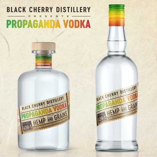 Propaganda Vodka label design