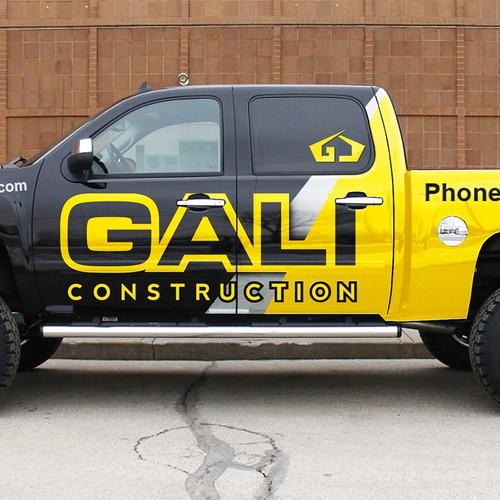 Modern Luxury Construction Truck Wrap Design
