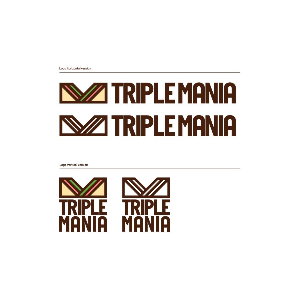 """Diseña un logotipo para una nueva marca digital de venta de sandwiches """"TRIPLES"""" por delivery."""