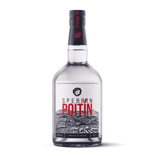Label design for Sperrin Poitin