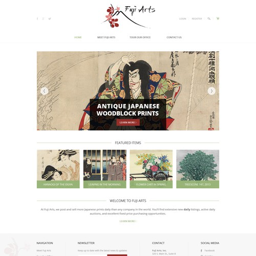 Japanese Art Website Revamp