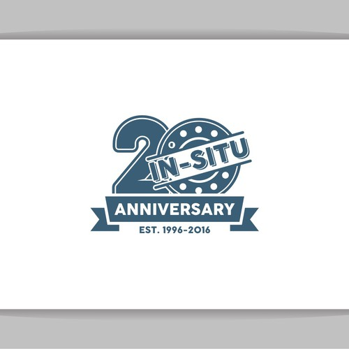 "Clean and Vintage concept logo for ""20th IN -SITU Anniversary"""