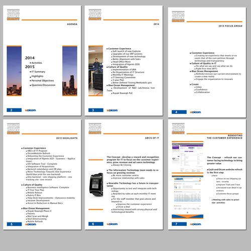 inDesign Template for IT Plan