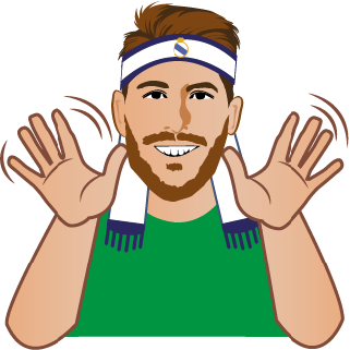 Create a set of stickers for Sergio Ramos to use in mobile Apps!