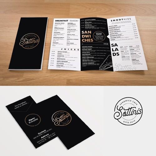 Criação de Menu para cafeteria Sottinis