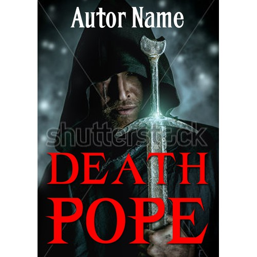 Make a BAD ASS COVER for the novel DEATH POPE