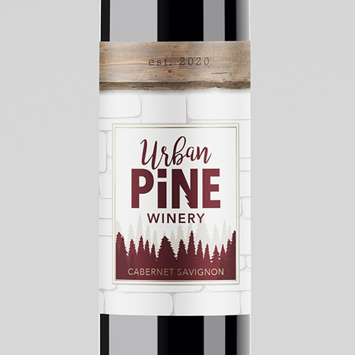 Urban Pine Winery Label