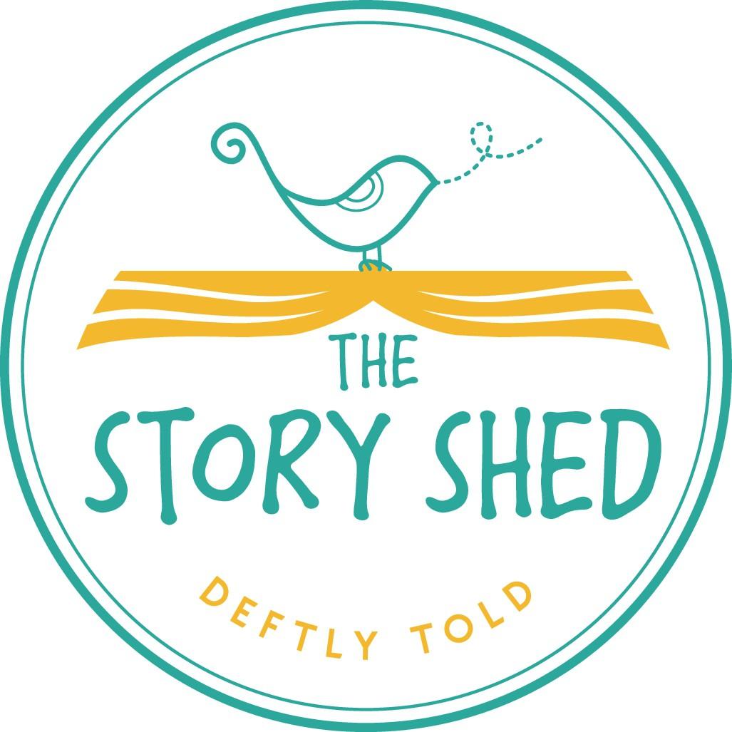 Design a vibrant, crafty logo for a storytelling agency