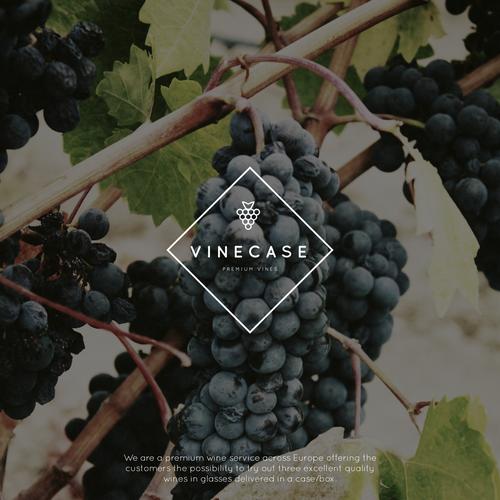 Modern logo for a premium wine service