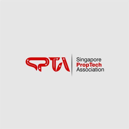 Logo for Singapore Proptech Association