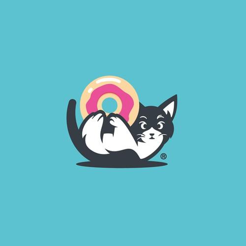 marshie's donut shop logo concept