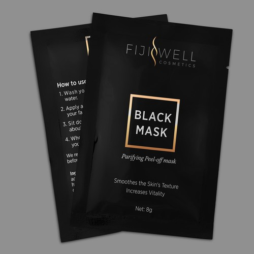 FijiWell Blackhead Mask, luxury blackhead cosmetics packets