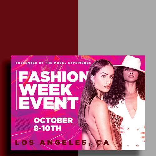 Fashion Week Event Flyer Design