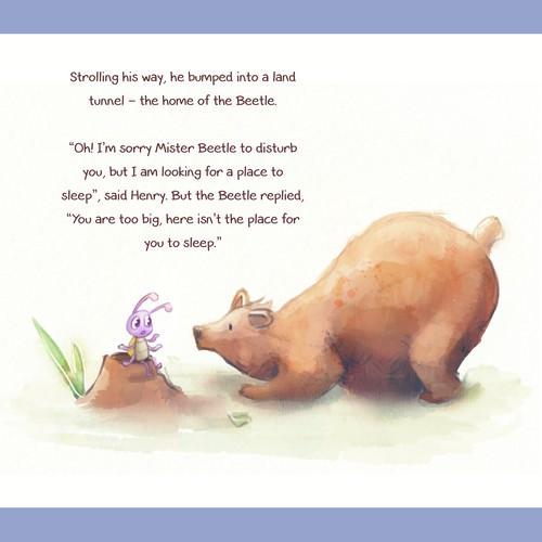 Children's book - Bear in Watercolor