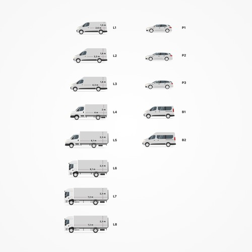 Vehicle illustrations for car rental company