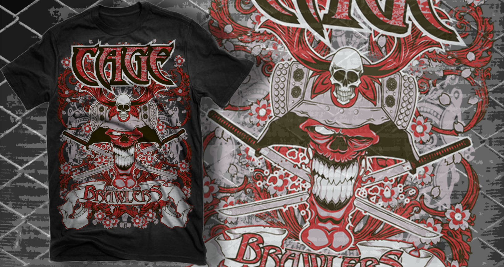 Help Cage Brawlers distinguish ourselves with our first MMA T-Shirt design
