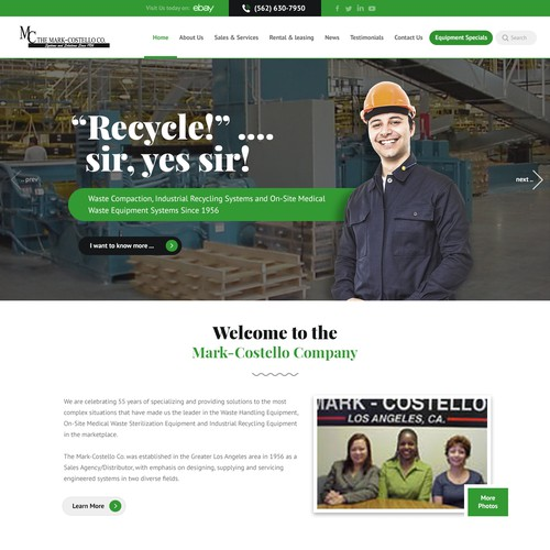 Website for Waste Management business